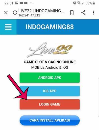 Loign Live22 Indogaming